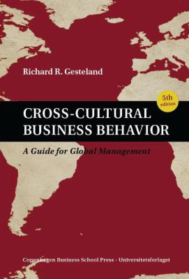 Book jacket for Cross-Cultural Business Behavior: A Guide for Global Management