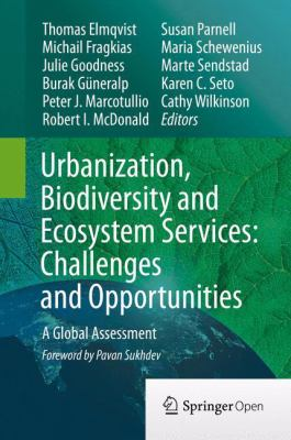 Book Cover : Urbanization, Biodiversity and ecosystem Services: Challenges and Opportunities