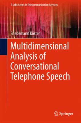 book cover: Multidimensional Analysis of Conversational Telephone Speech