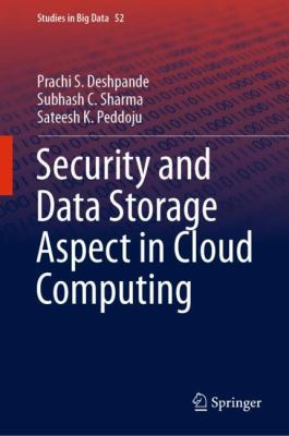 book cover:Security and Data Storage Aspect in Cloud Computing