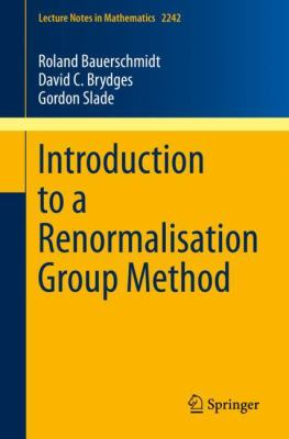 Coberta del llibre: Introduction to a renormalisation group method