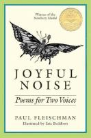 Joyful Noise: Poems for Two Voices cover