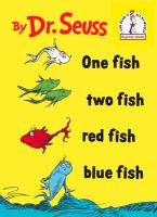 book jacket for One Fish Two Fish Red Fish Blue Fish