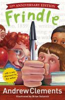 book jacket for Frindle