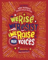 book jacket for We Rise, We Resist, We Raise Our Voices