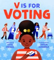 book jacket for V Is for Voting