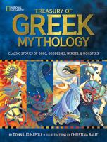 book jacket for Treasury of Greek Mythology: Classic Stories of Gods, Goddesses, Heroes & Monsters