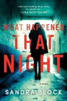 What happened that night : a novel