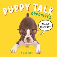 book jacket for Puppy Talk: Opposites