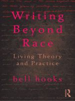 Writing Beyond Race: living theory and practice Book Cover