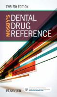 Mosby's dental drug reference by author unknown