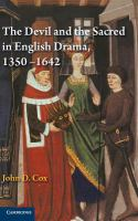 The devil and the sacred in English drama, 1350-1642