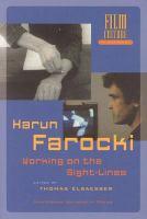 Harun Farocki: working on the sightlines