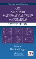 CRC Standard Mathematical Tables and Formulas by author unknown