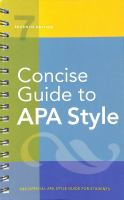 the official APA style guide for students. by author unknown