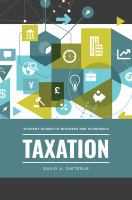 Taxation by Dieterle, David Anthony, author.