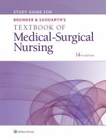 Study guide for Brunner and Suddarth's textbook of medical-surgical nursing by author unknown