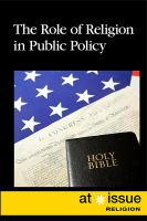 The role of religion in public policy by author unknown