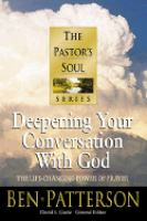Deepening your conversation with God