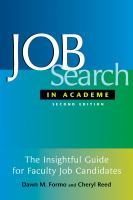 Job search in academe: how to get the position you deserve