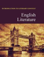 Introduction to literary context. by author unknown
