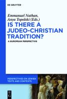 Is there a Judeo-Christian tradition?: a European perspective