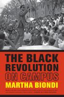 The Black revolution on campus Book Cover