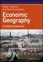 Economic geography: a critical introduction