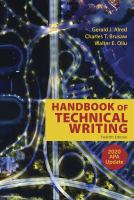Handbook of technical writing by Alred, Gerald J., author.