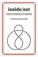 Inside/out : Lesbian theories, gay theories