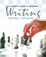 A student's guide to academic writing