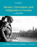 Racism, colonialism, and indigeneity in Canada : a reader