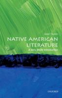 Native American literature : a very short introduction