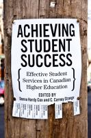 Achieving student success : effective student services in Canadian higher education