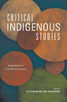Critical indigenous studies : engagements in first world locations