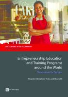 Entrepreneurship education and training programs around the world : dimensions for success / Alexand