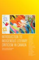 Introduction to indigenous literary criticism in Canada