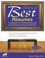 Gallery of Best Resumes : A Collection of Quality Resumes by Professional Resume Writers