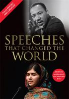 Speeches that changed the world.