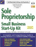 Sole Proprietorship, 3rd Edition : Small Business Start-up Kit