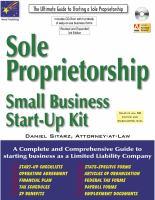 Sole Proprietorship, 3rd Edition : Small Business Start-up Kit