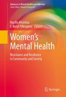Women's mental health : resistance and resilience in community and society
