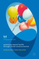 Examining Mental Health Through Social Constructionism : The Language of Mental Health